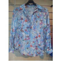 LADIES' RAYON NYLON WOVEN BLOUSE
